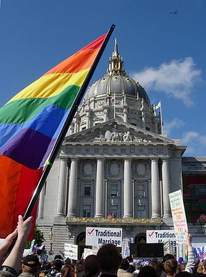 SFO CA Court Protest over Prop 8 Ruling