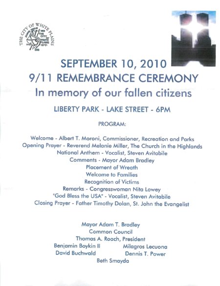 White Plains_911 Remembrance Ceremony