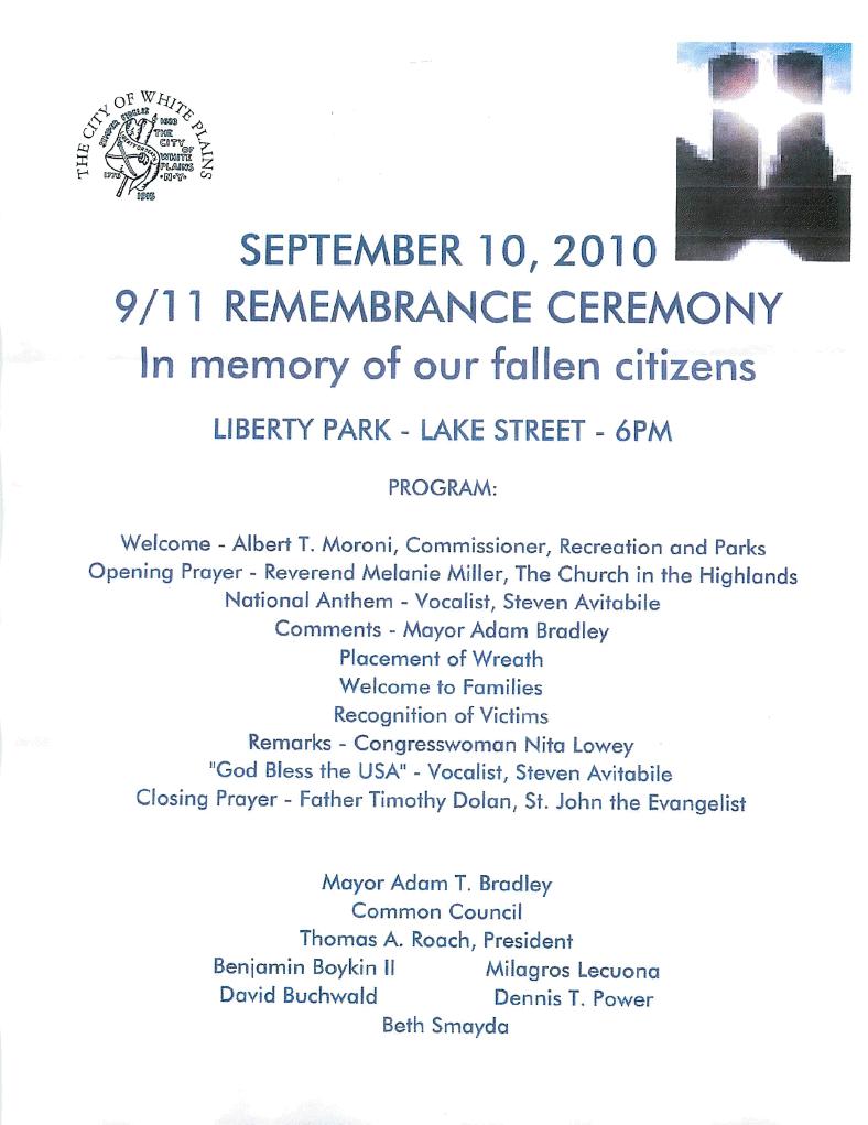 White Plains_911 Remembrance Ceremony